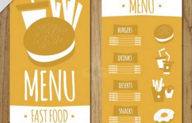 menu design templates hand drawn burger menu template