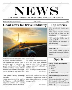 microsoft word newspaper template newspaper template image