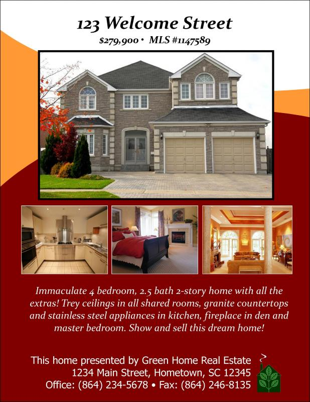 microsoft word real estate flyer template free
