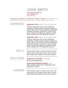 microsoft word template resume resume template