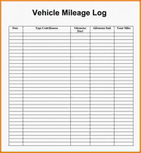 mileage log form mileage log template mileage log template pdf