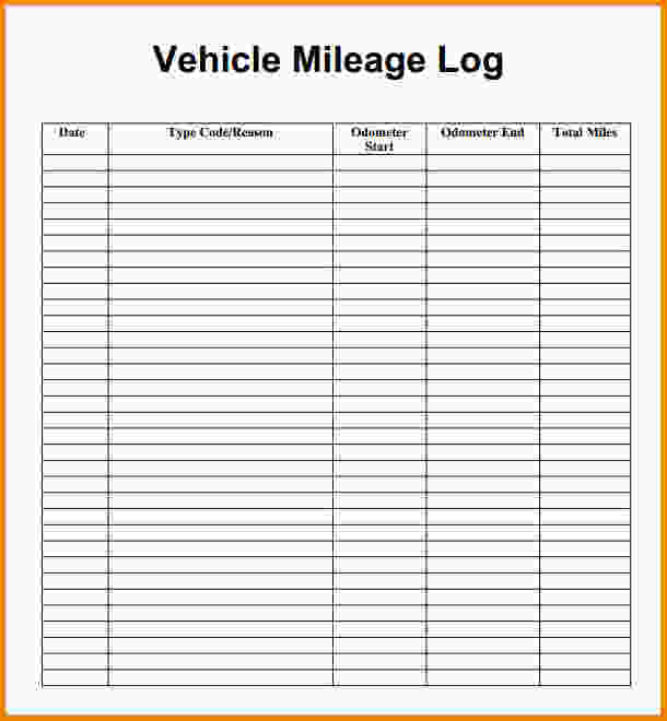 mileage log form
