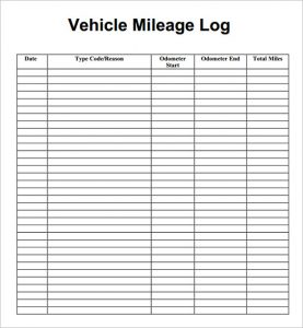mileage log template mileage log template pdf