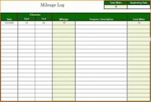 mileage tracker form mileage tracker excel