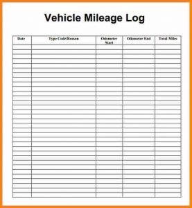 mileage tracker form mileage tracker form mielage log image