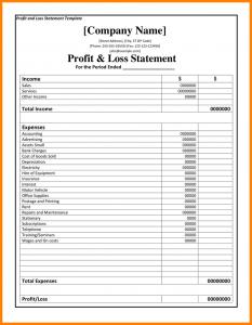 mileage tracker form profit loss statement forms profit and loss statement template