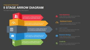 modern powerpoint templates free stage arrow diagram powerpoint keynote template