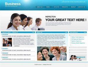 modern website templates blue business web template