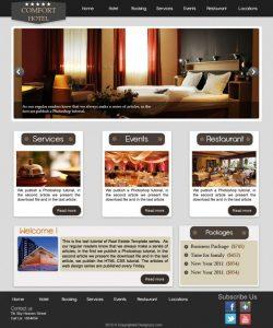 modern website templates design an elegant hotel website