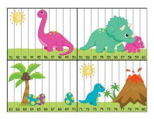montessori lesson plans dinosaur numbers puzzle activity