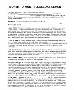 month to month lease agreement printable month to month rental agreement