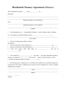 month to month rental agreement form residential tenancy agreement l