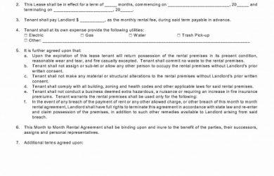 month to month rental agreement simplemonthtomonthrentalagreement