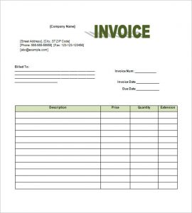 monthly bill template free invoice template word