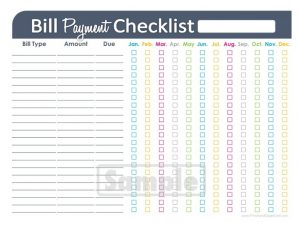 monthly bill template monthly payment template wanted poster layout xmas list template