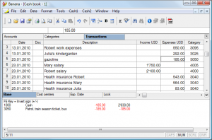 monthly budget templates banana cashbook