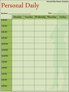 monthly employee schedule template others template program templates daily planner template