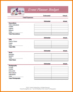 monthly expense report budget planner worksheet event planner budget