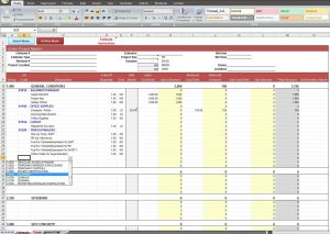 monthly expense report construction job costing spreadsheet template