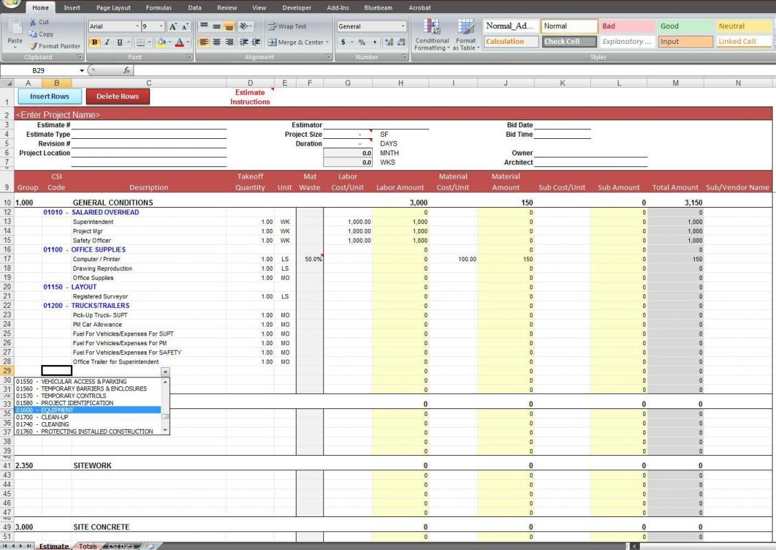 monthly expense report