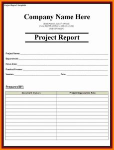 monthly expense report template example of project report format sample management report template project report template