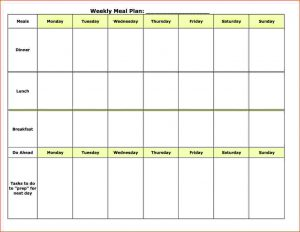 monthly expense report weekly meal plan template meal plan template