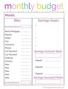 monthly household budget ffdaadfcdbfbdf monthly budget planner financial planning