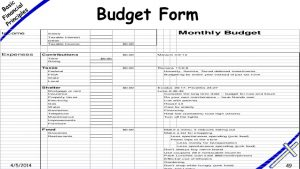 monthly household budget basic financial principles for the church