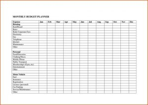 monthly household budget template medical expense tracker spreadsheet
