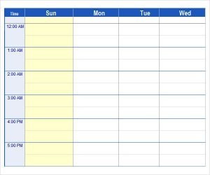 monthly schedule template excel microsoft excel weekly schedule template