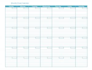 monthly schedule template lt