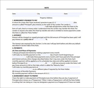 mortgage note sample private mortgage note free pdf template