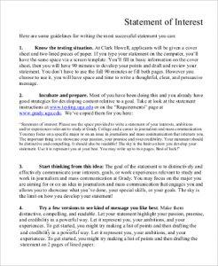 mortgage statement template statement of interest job