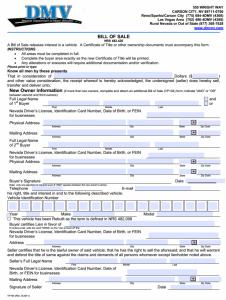motor vehicle bill of sale pdf nevada motor vehicle bill of sale x