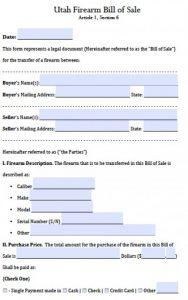motor vehicle bill of sale pdf utah firearm bill of sale x