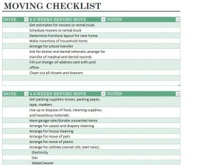 moving checklist template home moving checklist