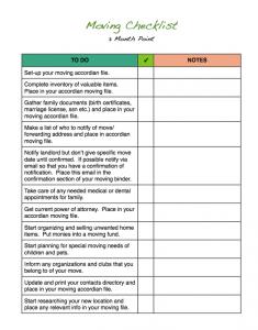 moving checklist template moving checklist template