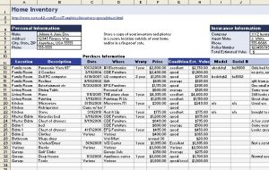 moving inventory list home inventory spreadsheet