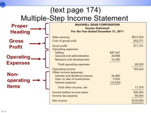 multiple step income statements chap jpmf