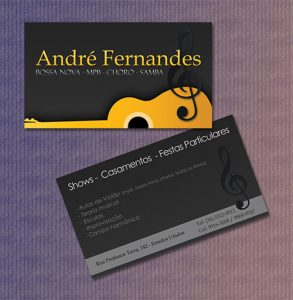 music business cards business card music