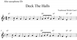 music notes template deck the halls free christmas alto saxophone sheet music notes