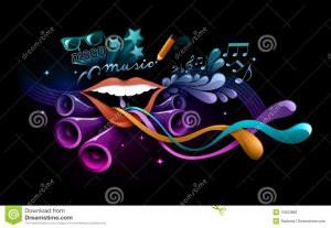 music notes template funky music illustration