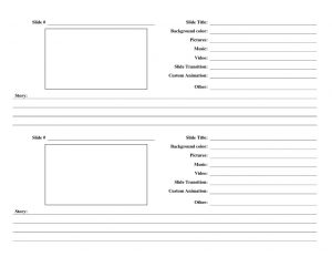 music notes template storyboard template
