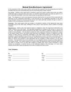 mutual nda template mutual non disclosure agreement