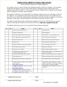new employee orientation checklist employee orientation checklist