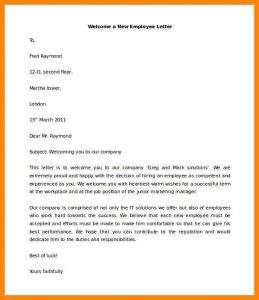 new employee welcome email welcome letter to new employee download welcome a new employee letter template for free