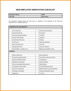 new hire checklist template new hire checklist template