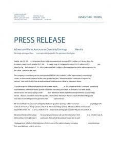 news release format press release template