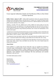 news release format sample press release