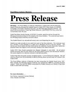 news release format sample press release format